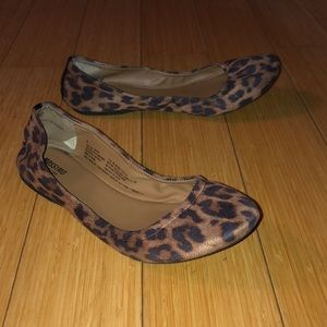 Mission leopard print flats size 8
